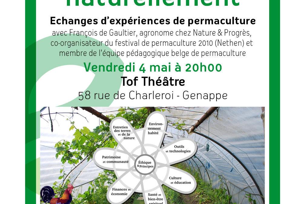 La PERMACULTURE, de la solidarité dans le jardin, le 4 mai à 20H00